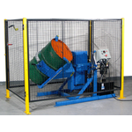 Tilt-to-Load Drum Tumbler with Control Package and Safety Enclosure