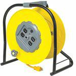 125 VAC Commercial Hand Wind Cord Reel, No. of Outlets 4, Cord Included Yes