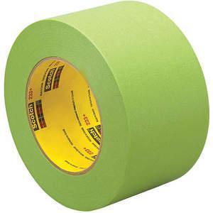 3M 233+ Masking Tape, Green, 4 Inch x 60 yard | AA6WXW | 15D088