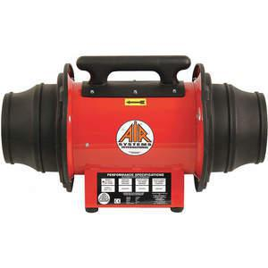 Portable explosion proof Confined Space Fan, Axial, 3.6 Amp | AIR SYSTEMS INTERNATIONAL SVF-10E | AD2YAD 3WE67