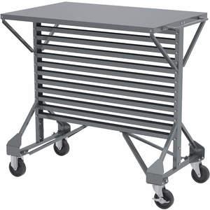 AKRO-MILS 30-812 Mobile Bin Cart 24 Inch W x 36-1/2 Inch H 250 Lb | AE6ZFU 5W888