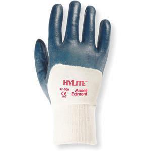 ANSELL 47-400 Coated Gloves 9/L Blue/White PR   AC8HVY 3AG19