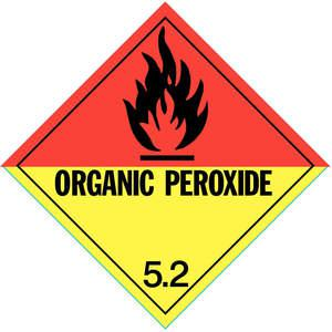 STRANCO INC DOTP-0046-V10 Vehicle Placard Organic Peroxides 5.2 W Pict - Pack Of 10   AF4GMW 8W068