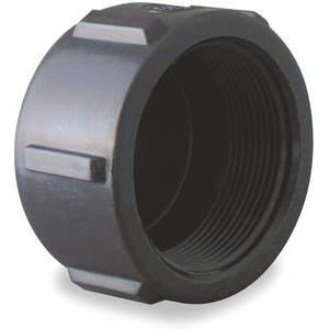 BANJO CAP100 Pipe Cap 1 Inch Fpt Polypropylene 150 Psi Black | AB2KDD 1MJW4
