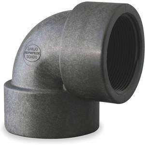 BANJO EL050-90 Elbow 90 Degree 1/2 Inch Fpt 150 Psi Black | AB2KDZ 1MJY5
