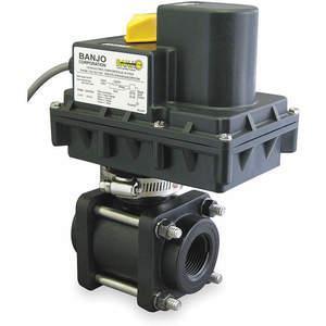BANJO EV15024 Electronic Ball Valve Polypropylene 1-1/2 Inch | AC8XFK 3ELY1