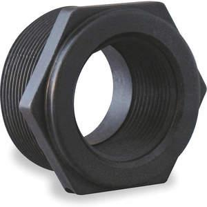 BANJO RB075-025 Reducing Bushing 3/4 x 1/4 Inch Polypropylene Black | AB2KFV 1MKB3