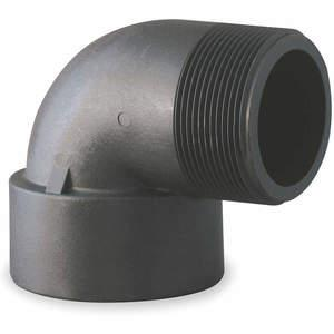 BANJO SL125-90 Street Elbow 90 Degree 1 1/4 Inch Polypropylene Black | AB2KHR 1MKG1