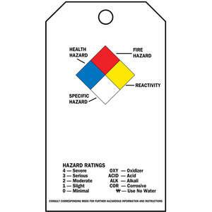 BRADY 99202 Accident Prevention Tag Polypropylene Nfpa Diamond - Pack Of 25 | AC8HTN 3AF92