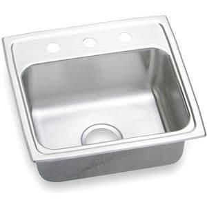 ELKAY LR19193 Drop-in Sink With Faucet Ledge 19 Inch Width | AC8HNY 3AEF5