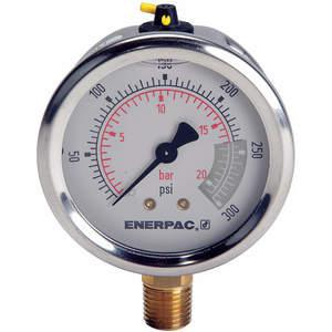 ENERPAC G2512L Pressure Gauge 0 To 300 Psi 2-1/2in | AD6MRF 46C564