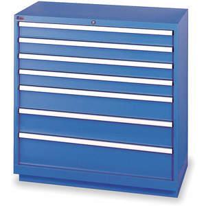 LISTA HS0900-0702FA-WWG Modular Drawer Cabinet 41-3/4 Inch Height | AC8GUK 3AA43
