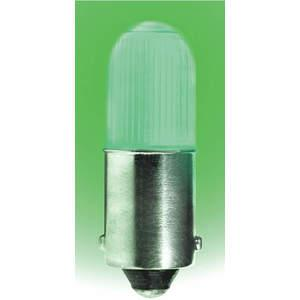 LUMAPRO 39P455 Led Lamp Mini T3 1/4 Ba9s Green   AC8FFN