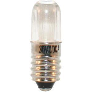 LUMAPRO 39P456 Led Lamp Mini T3 1/4 E10 Amber   AC8FFP