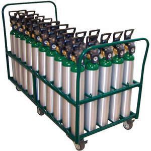 SAFTCART MDE-50V Cylinder Trolley 38 Inch H 2400 Lb. | AE7CJG 5WXL8