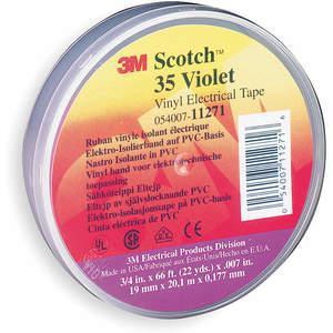 SCOTCH 35 3/4X66 VIOLT Electrical Tape 3/4 x 66 Feet 7 Mil Violet | AC8GJC 3A187