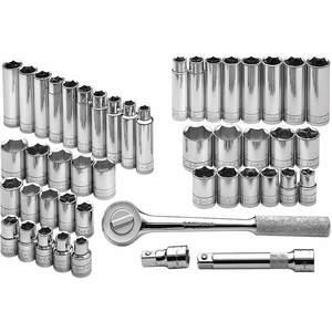 SK PROFESSIONAL TOOLS 4147-6 Socket Set 1/2 Inch Drive Chrome 47 Pc | AA4BGM 12D207
