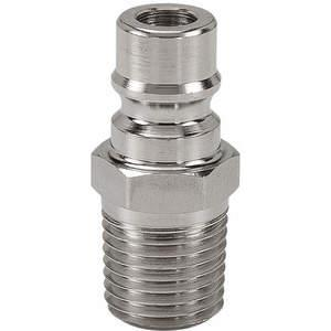 SNAP-TITE SPHN4-2M Nipple 1/8-27 1/4 Inch Body 316 Stainless Steel   AF6WEX 20LG39