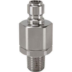 SNAP-TITE SVEAN4-4M Nipple 1/4-18 1/4 Inch Body 316 Stainless Steel | AF6WFQ 20LG57