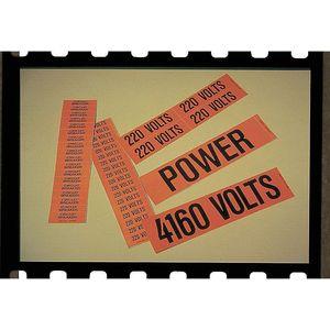STRANCO INC CVB-1057-PK Pipe Marker 600 Volts Orange 1-1/8 x 4in. Pk5 | AF4TVF 9JZP3