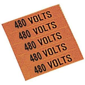 STRANCO INC CVC-1054-PK Pipe Marker 480volts 1-1/4 In. And Smaller Pk5 | AF3QFR 8AW13