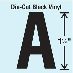 STRANCO INC DBV-1.5-A-10 Die Cut Letter Label A 10 Cards PK10   AH3AHR 30WZ98