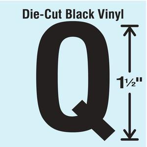 STRANCO INC DBV-1.5-Q-10 Die Cut Letter Label Q 10 Cards PK10 | AH3AJJ 30XA15