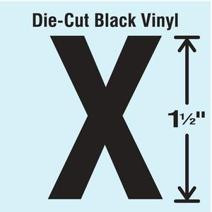 STRANCO INC DBV-1.5-X-10 Die Cut Letter Label X 10 Cards PK10 | AH3AJR 30XA22
