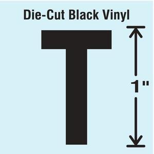 STRANCO INC DBV-1-T-10 Die Cut Letter Label T 10 Cards PK10 | AH3AGY 30WZ81