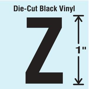 STRANCO INC DBV-1-Z-10 Die Cut Letter Label Z 10 Cards PK10   AH3AHE 30WZ87