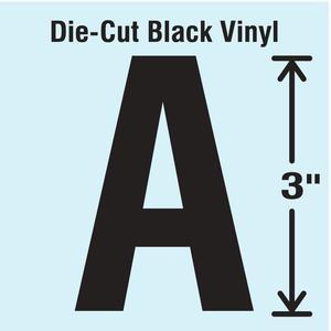 STRANCO INC DBV-3-A-10 Die Cut Letter Label A 10 Cards PK10 | AH3ALV 30XA71