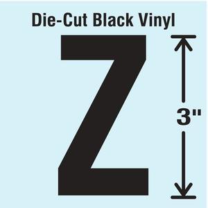 STRANCO INC DBV-3-Z-10 Die Cut Letter Label Z 10 Cards PK10   AH3AMX 30XA96