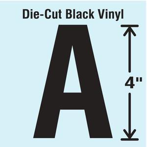 STRANCO INC DBV-4-A-10 Die Cut Letter Label A 10 Cards PK10 | AH3ANJ 30XC08