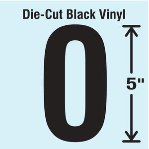 STRANCO INC DBV-5-0-10 Die Cut Number Label 0 10 Cards PK10 | AH3APM 30XC34