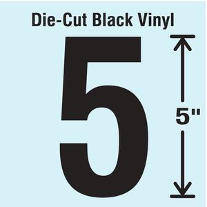 STRANCO INC DBV-5-5-10 Die Cut Number Label 5 10 Cards PK10 | AH3APT 30XC39