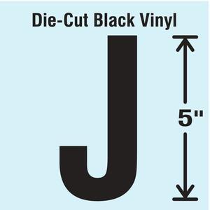 STRANCO INC DBV-5-J-10 Die Cut Letter Label J 10 Cards PK10 | AH3AQH 30XC53