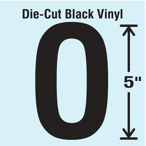 STRANCO INC DBV-5-O-10 Die Cut Letter Label O 10 Cards PK10 | AH3AQN 30XC58