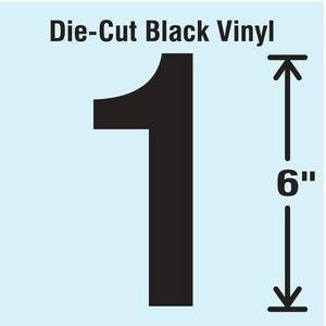 STRANCO INC DBV-SINGLE-6-1 Die Cut Number Label 1   AH3ARC 30XC71