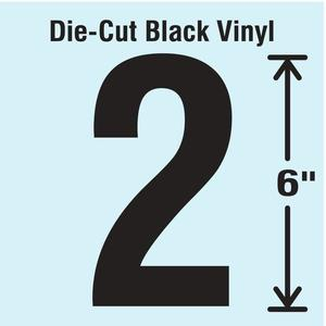 STRANCO INC DBV-SINGLE-6-2 Die Cut Number Label 2   AH3ARD 30XC72