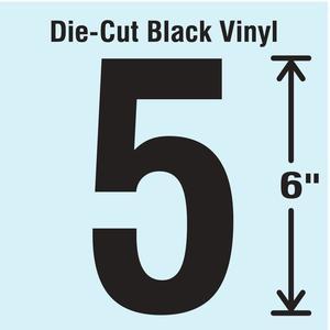 STRANCO INC DBV-SINGLE-6-5 Die Cut Number Label 5 | AH3ARG 30XC75