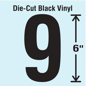 STRANCO INC DBV-SINGLE-6-9 Die Cut Number Label 9   AH3ARL 30XC79