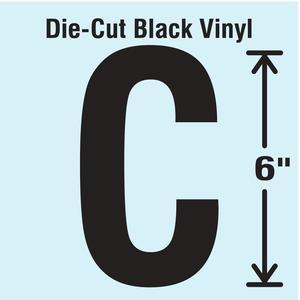 STRANCO INC DBV-SINGLE-6-C Die Cut Letter Label C   AH3ARP 30XC82
