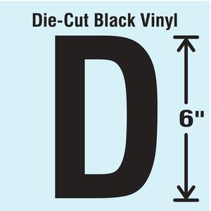 STRANCO INC DBV-SINGLE-6-D Die Cut Letter Label D | AH3ARQ 30XC83