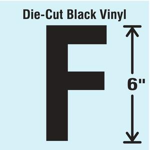 STRANCO INC DBV-SINGLE-6-F Die Cut Letter Label F   AH3ART 30XC85
