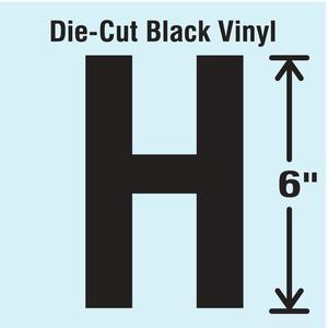 STRANCO INC DBV-SINGLE-6-H Die Cut Letter Label H   AH3ARV 30XC87