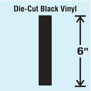 STRANCO INC DBV-SINGLE-6-I Die Cut Letter Label I   AH3ARW 30XC88