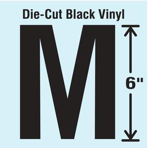 STRANCO INC DBV-SINGLE-6-M Die Cut Letter Label M | AH3ATA 30XC92