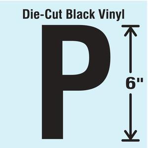STRANCO INC DBV-SINGLE-6-P Die Cut Letter Label P | AH3ATD 30XC95