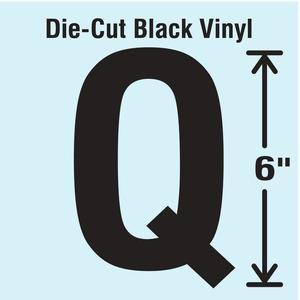 STRANCO INC DBV-SINGLE-6-Q Die Cut Letter Label Q | AH3ATE 30XC96