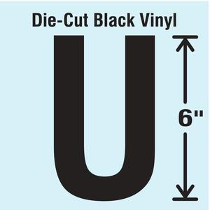 STRANCO INC DBV-SINGLE-6-U Die Cut Letter Label U | AH3ATJ 30XD01